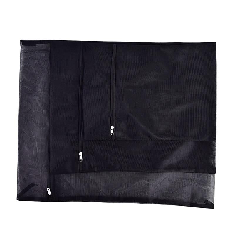 Новинка, 1 шт., сумка для стирки одежды, стиральная машина, на молнии, нейлоновая сетка, сетчатый бюстгальтер, сумка для стирки, 3 размера, черн...