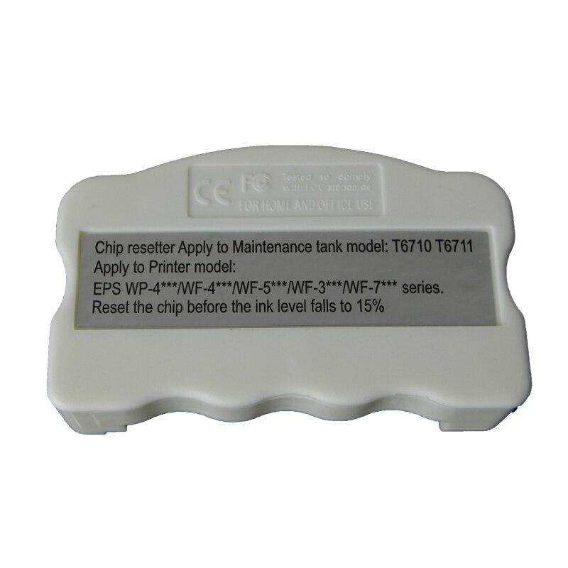 T6710 T6711 отработанных обломок Resetter для Epson WP-4010 WP-4015 WP-4525 WP-4530 WP-4540 WF-5110 WF-7110 WF-7610 PX-B750F