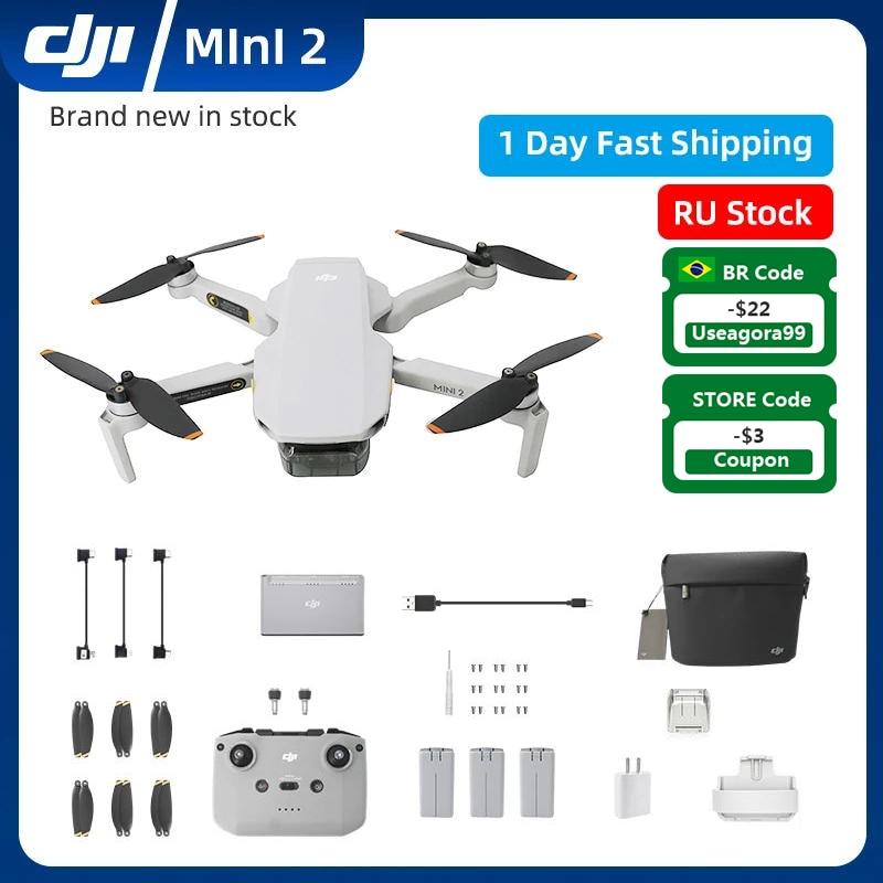 DJI Mini 2 4K كاميرا RC طائرات بدون طيار لتحديد المواقع كوادكوبتر 10 كجم نقل المسافة DJI Mavic MINI2 شحن البطارية الأصلي RU الأسهم