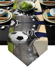 Balones de cancha de fútbol gimnasio diseño de fútbol corredores de mesa decoración de fiesta bandera camino de mesa decoración de boda hogar Mesa