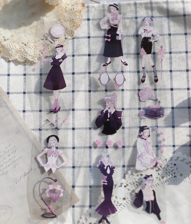 Gothique fille Washi bandes balle Journal ruban de masquage ruban adhésif bricolage Scrapbooking Washi autocollants