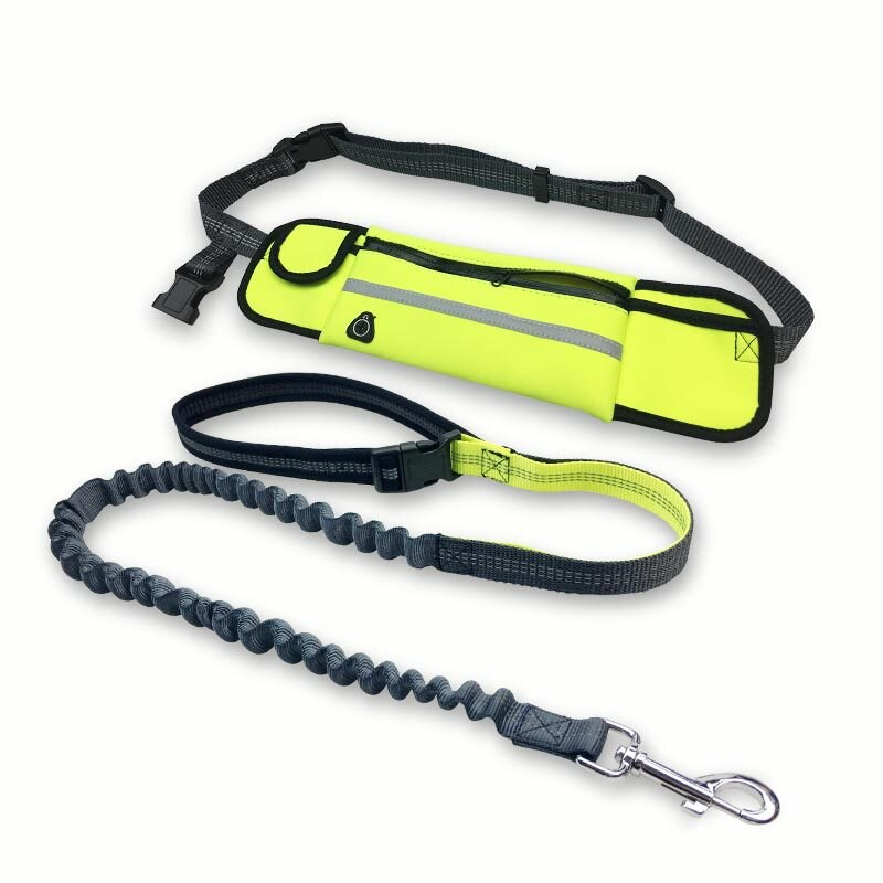 Dog Leash Running Nylon Hand Freely Pet Products  Harness Collar Jogging Lead Adjustable Waist Leashes Traction Belt Rope