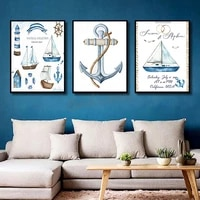 canvas painting frameless boat composition waterproof ink painting inkjet handicraft poster home decoration mural
