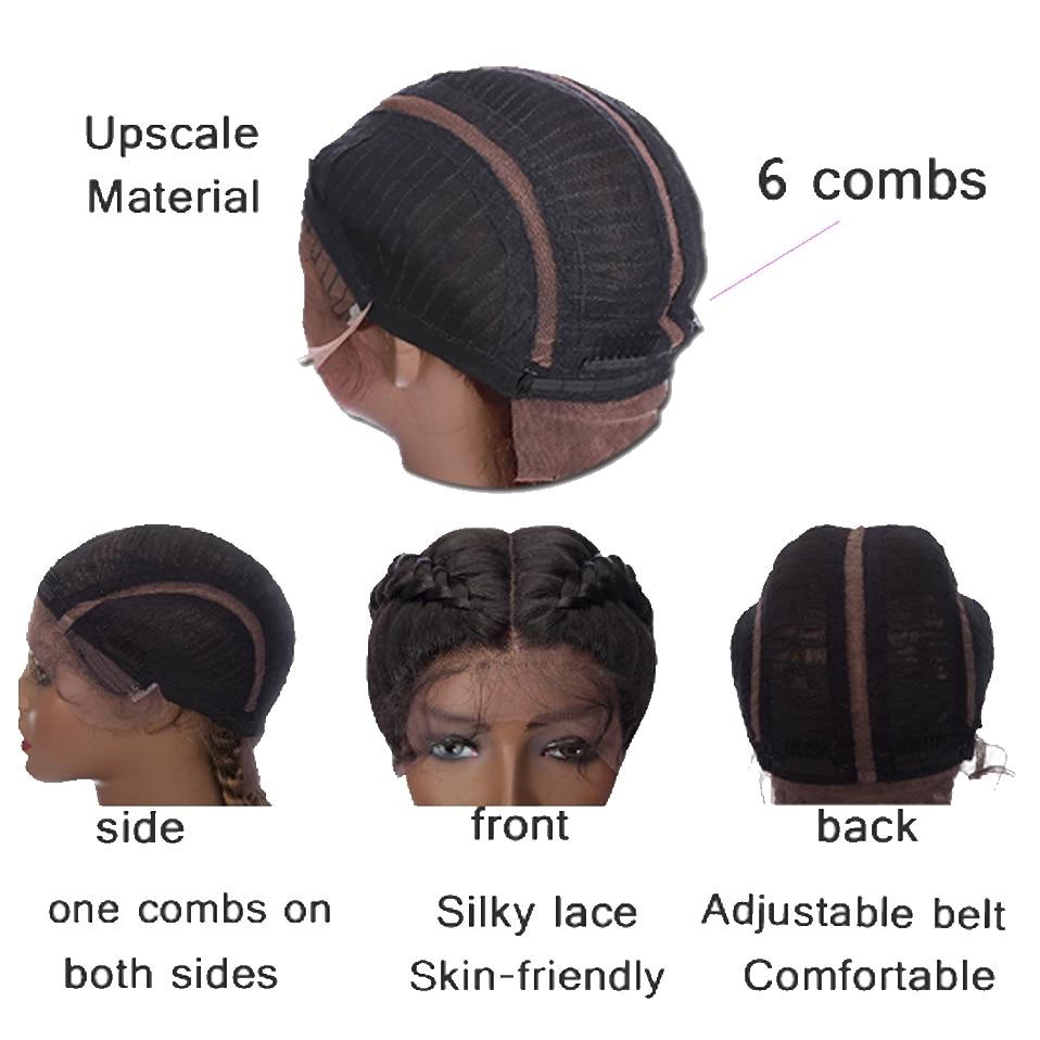 HAIRRO Braid Hair Wig Synthetic Hair African American Box Black Wigs Wholesale Baby Hair Tresse Cornrow For Black Women enlarge