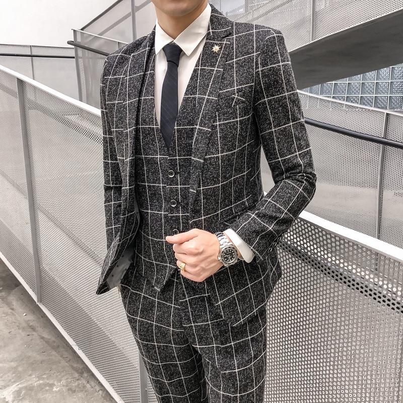 Men's Three-piece Suits,professional Tailored Suits, Bridesmaids' Clothing,suits for Men,mens Suits 3 Piece(Coat+Pants+Vest) suits