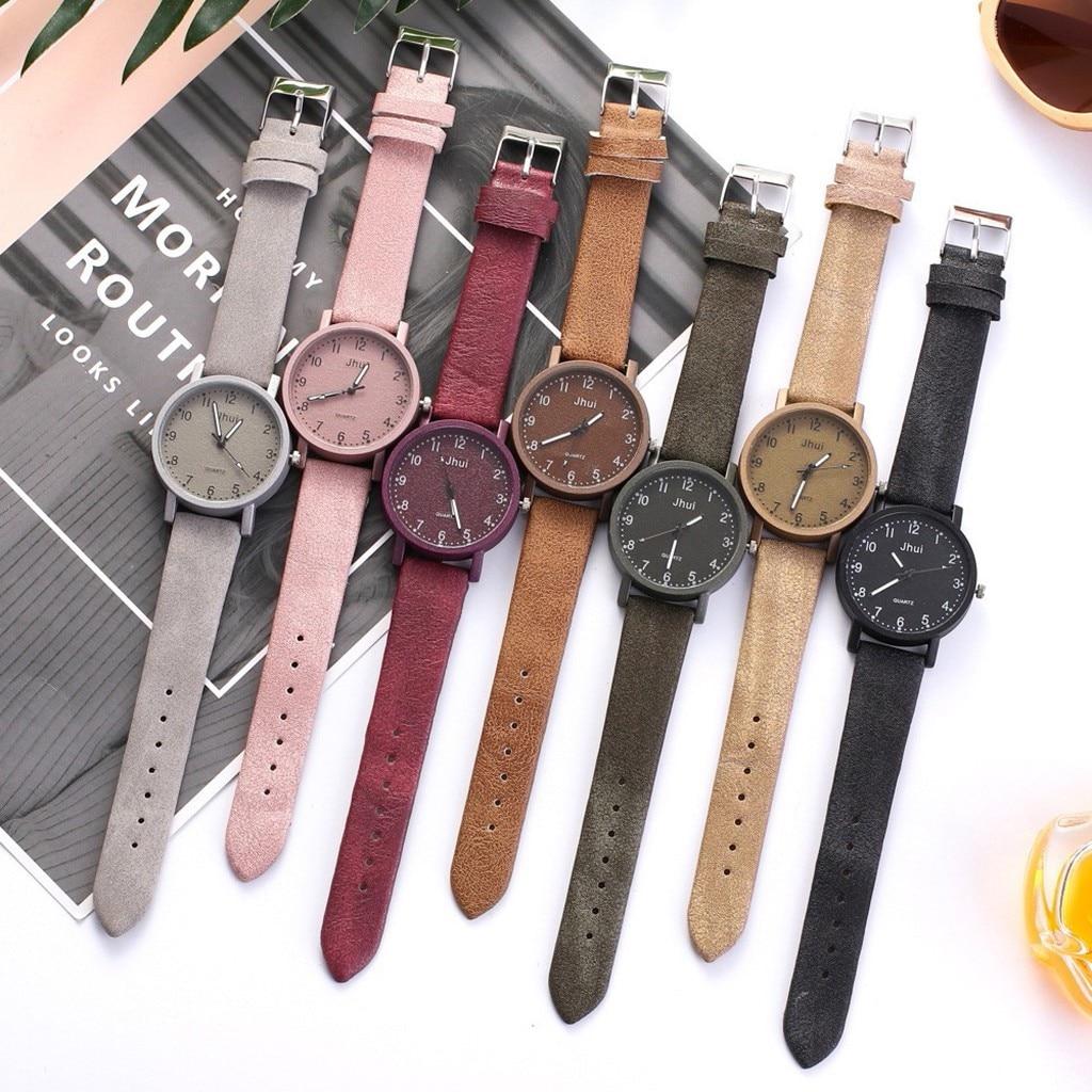 Jhui Women's Casual Quartz Leather Band Newv Strap Watch Analog Wrist Watch часы женские наручные reloj mujer montre femme часы наручные женские taya цвет черный t w 0065 watch gl black