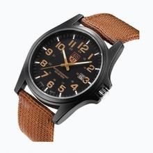 Bussiness Wristwatch Men's Watches Fashion Watch For Man Quartz Nylon Band Military Boys Student Gif