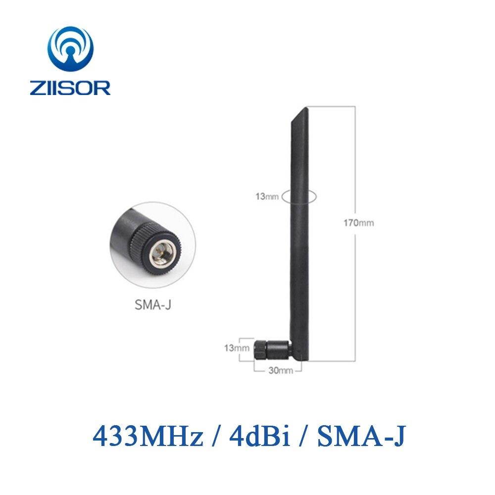 433MHz Lora Antena Omni 433M de largo alcance DTU módulo Antena SMA macho de alta ganancia Antena de receptor TX433-JKD-20P