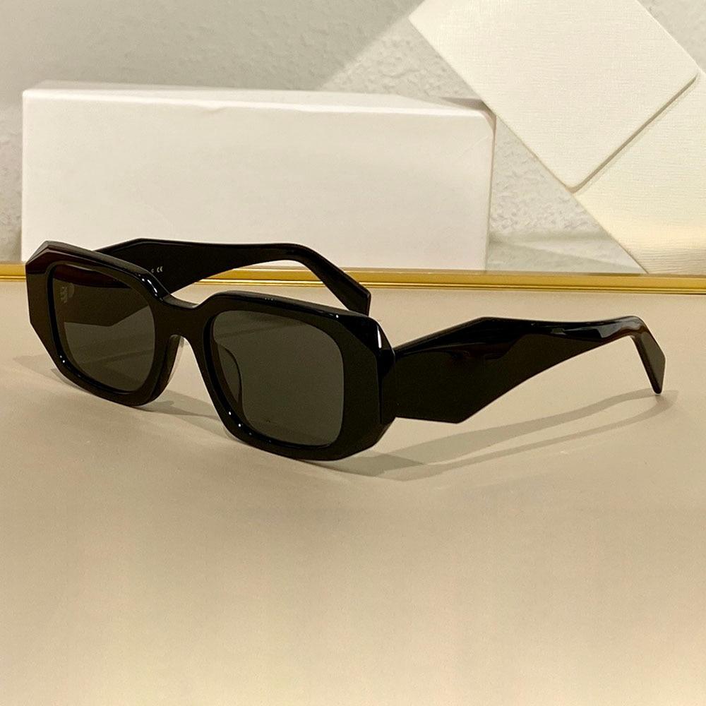 Polygon Water Chestnut Personality Brand Black Shades Retro Sun Rectangular Weird Acetate Sunglasses Black 2020 Designer Large