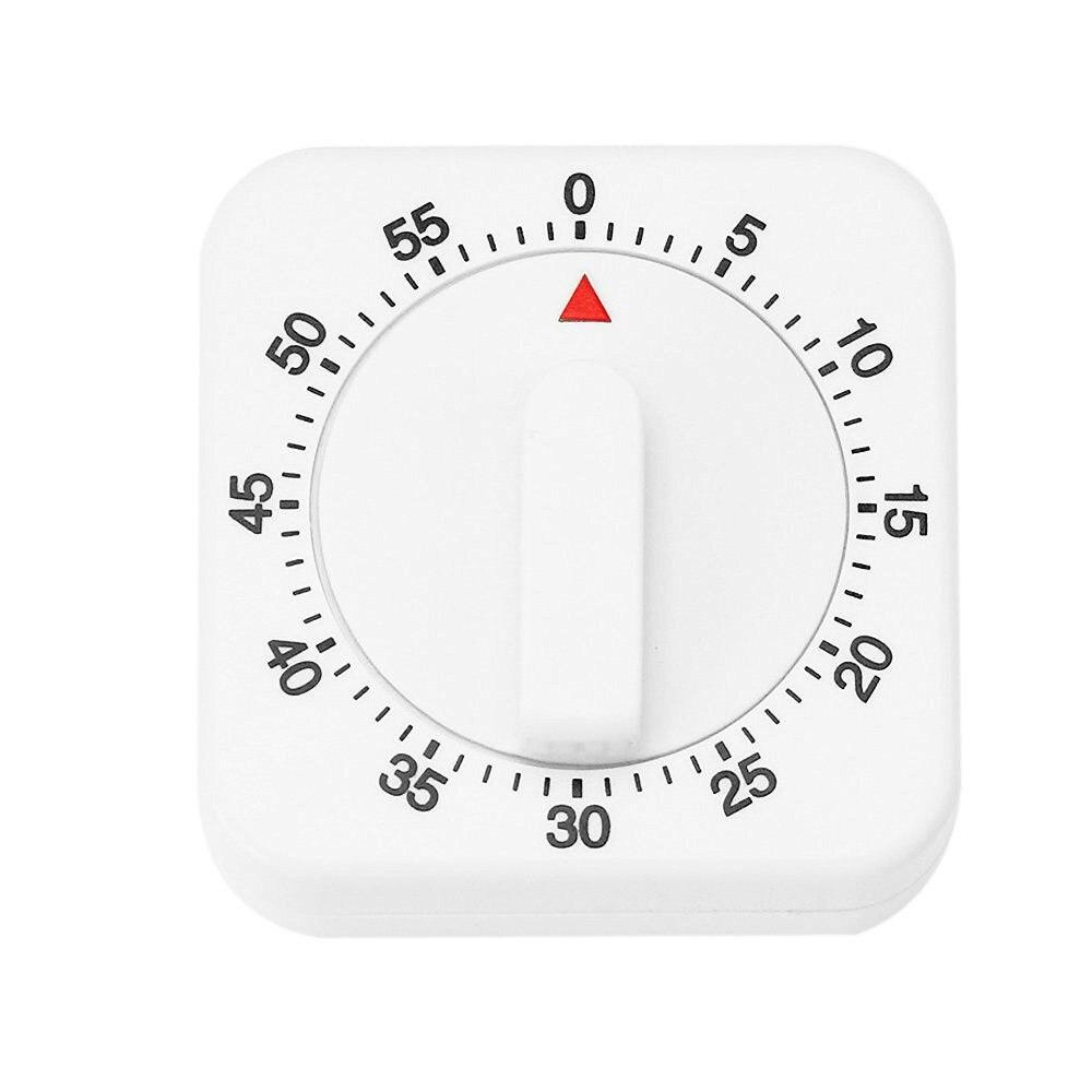 1pc 60 Minutes minuterie mécanique avec alarme pour cuisine cuisson compte à rebours alarme sommeil arrêt montre horloge