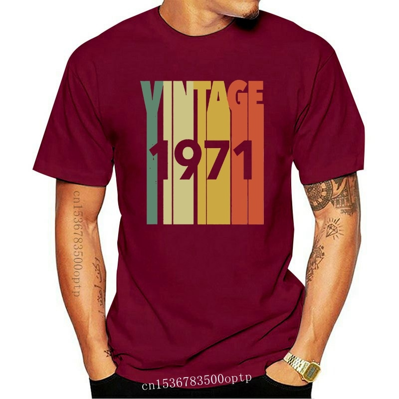 New Funny Men t shirt Women novelty tshirt Vintage Retro Made In 1971 T-Shirt 47th Birthday Gift coo