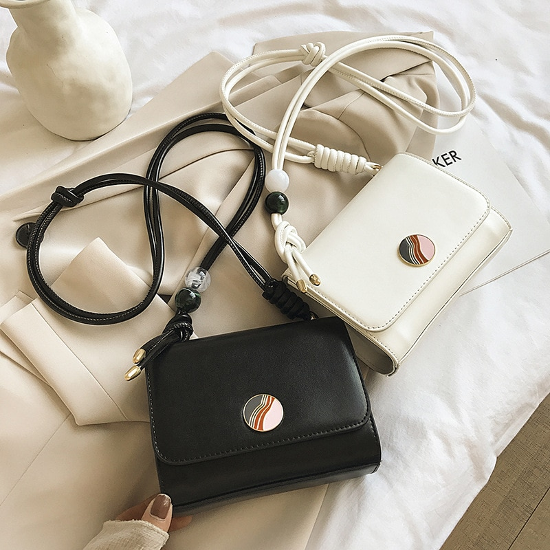 New Type Good Texture Small Bag for Women 2021 New Trendy Simple Shoulder Crossbody Internet Celebrity Small Square Bag