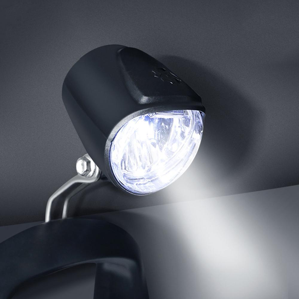 Faro delantero LED de 6V para bicicleta eléctrica, luz de advertencia de seguridad recargable, accesorios para bicicleta
