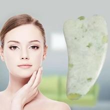 Jade Guasha Massage Board Natural Stone Gua Sha Scraper Health Care Meridian Scraping Plate Lose Wei