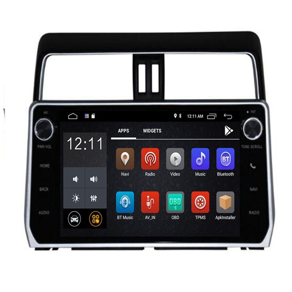 3/4G SIM LTE DVD del coche para Toyota Prado Land Cruiser 120 de 150 de 2018 Android 10 Octa 8 Core 4G RAM 32G ROM Radio GPS BT unidades