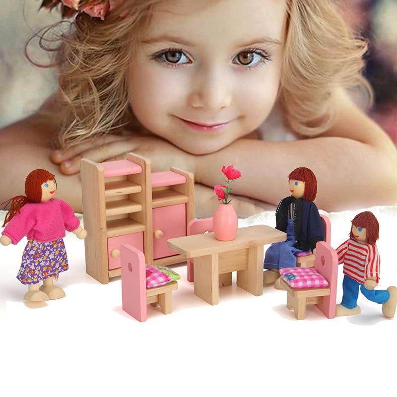 Миниатюрные аксессуары для кукольного домика, имитация мебели для кукольного домика, Миниатюрные аксессуары для мебели розового цвета, мин...