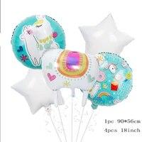 1 set alpaca aluminum foil balloon baby gift gift household items birthday party animal theme kid toy wedding party decoration
