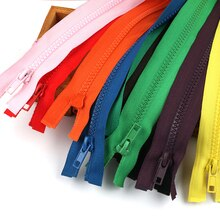 5Pcs 40-70cm long  No. 5 resin Multicolor open tail zipper coat down jacket coat children's zipper c