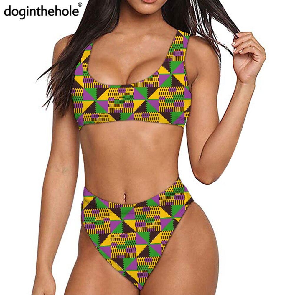 2020 mode africain imprimé Sport Bikini pour les femmes été Sexy maillots de bain filles Fitness maillot de bain à séchage rapide maillot de bain