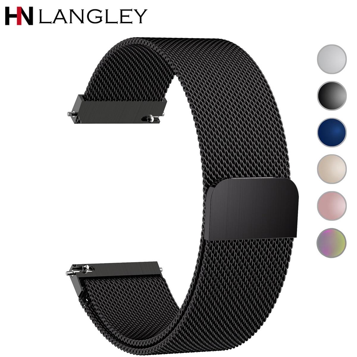 Bracelet de montre à dégagement rapide général fermeture magnétique milanaise bracelet de montre intelligente en acier inoxydable bracelet de remplacement 18mm 20mm 22mm