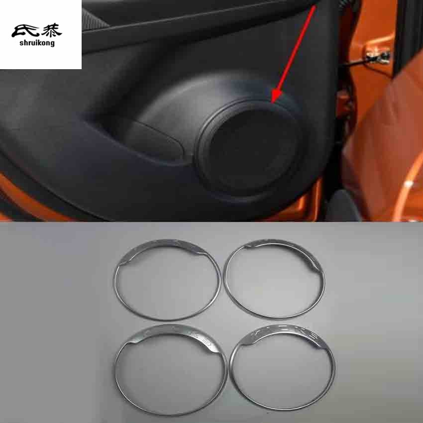 4 unids/lote ABS, accesorios para coche, pegatinas para puerta de coche, altavoz, bocina, decoración, cubierta circular para 2017-2019, Nissan KICKS P15