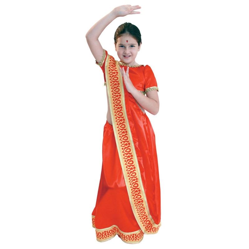 أطفال طفل بنات الهندي الهند فتاة البكر تأثيري حلي فانتازيا هالوين السنة الجديدة كرنفال ماردي غرا فستان حفلة