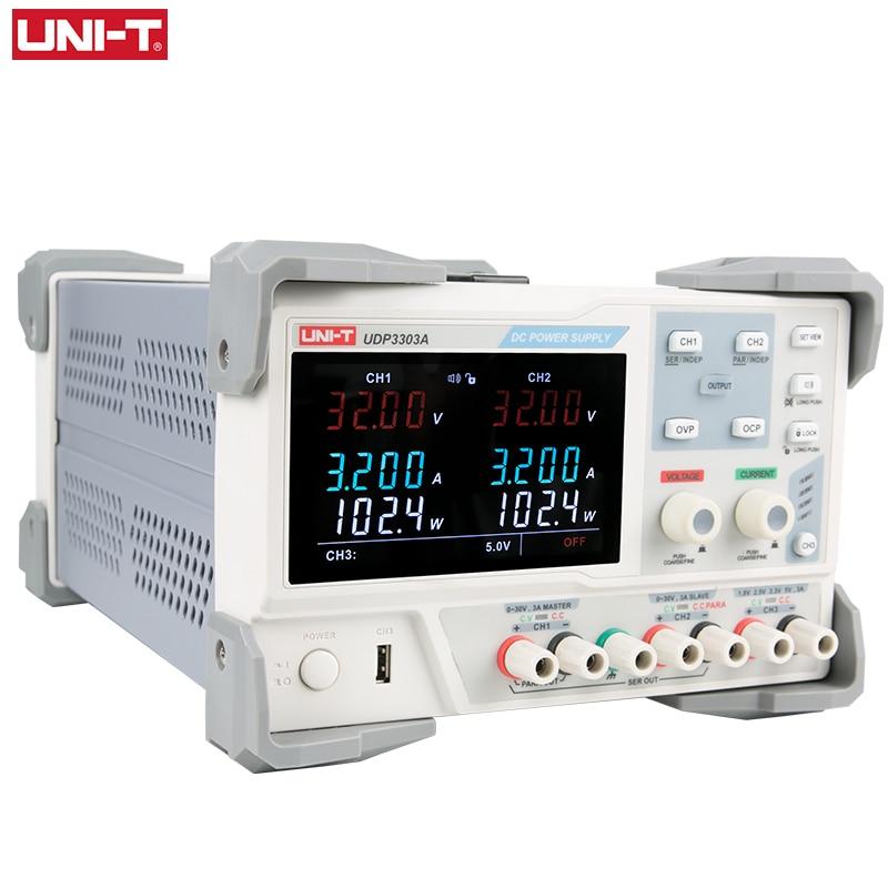UNI-T UDP3303A الصناعية الخطي DC برمجة التيار الكهربائي 30V 3A منظم 3 قناة الناتج عالية الدقة العرض الرقمي