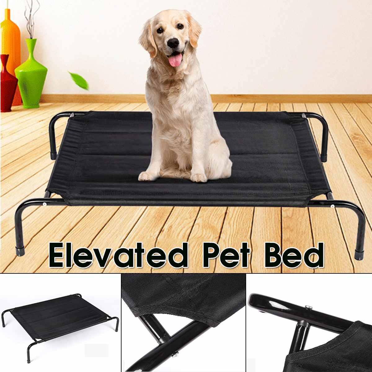 Cama de mascota elevada desmontable de verano para perro, cama de refrigeración para exteriores, transpirable, de malla, Cama de Gato elevado para cachorro, cama para perro, cama para dormir y acampar
