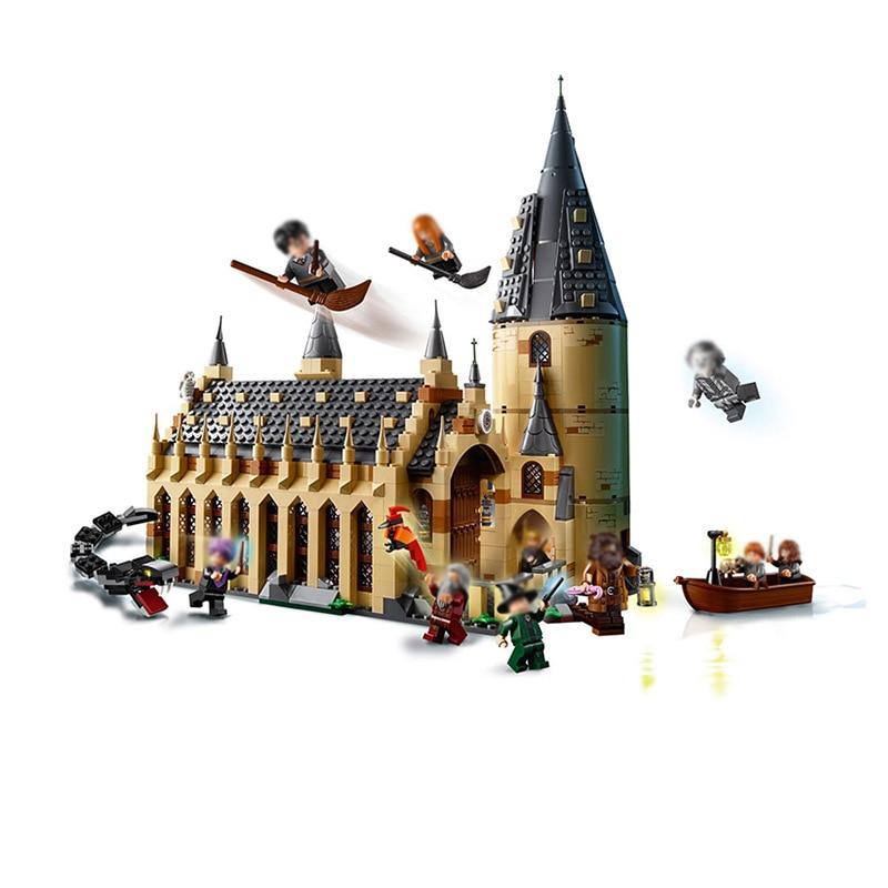 Nueva película Castle Hall Express Compatible Legoinglys modelo bloques de construcción juguetes niños regalos