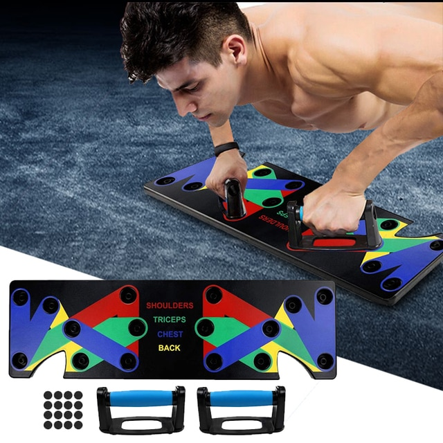 9 in 1 Push Up Rack Training Board ABS abdominal Muscle Trainer Sports Home Fitness Equipment for body Building Workout Exercise