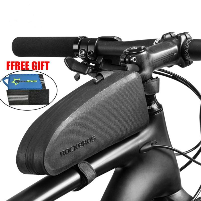 MTB Bicycle Waterproof Top Front Tube Bag Phone Storage Bag Frame Triangle Reflective Big Capacity Bag Bike Accessories