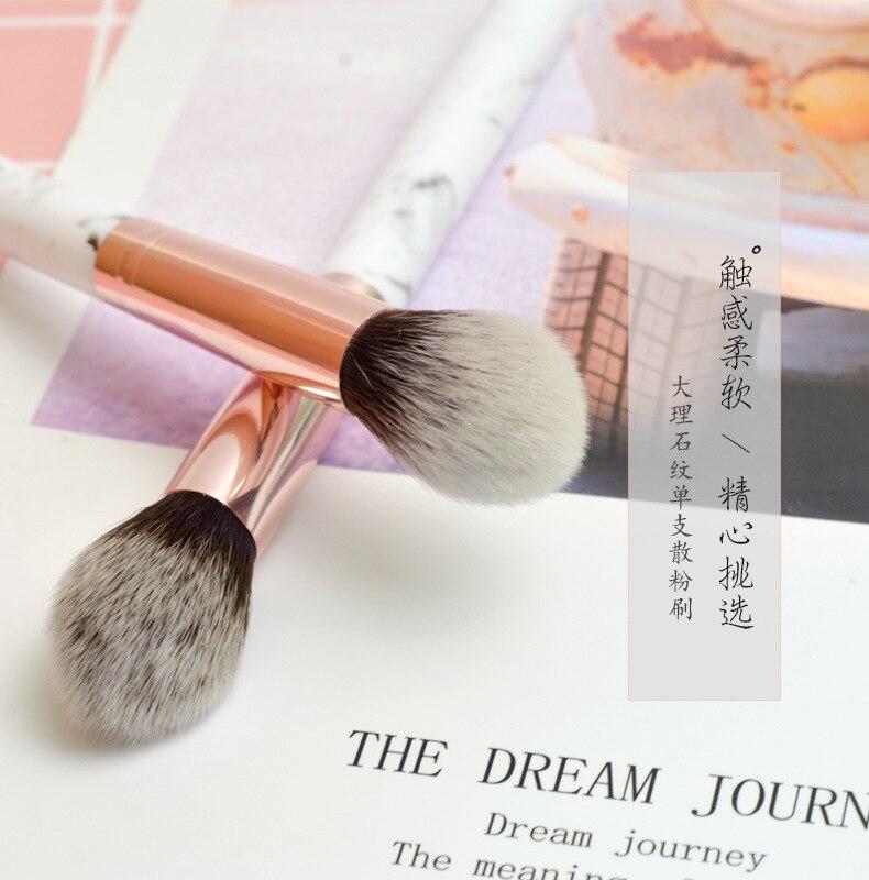 1pcs Marble Makeup Brushes Tool Set Cosmetic Powder Eye Shadow Foundation Blush Blending Beauty Make
