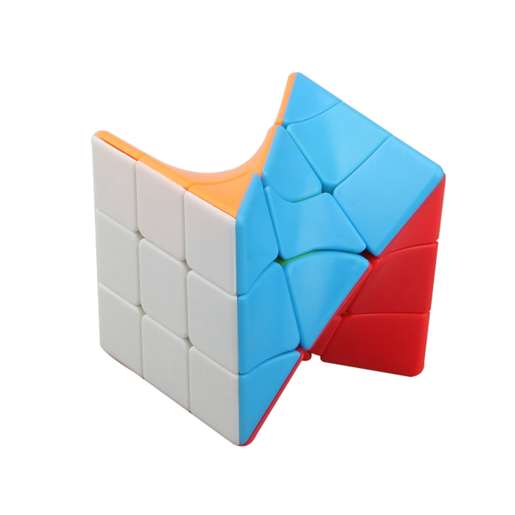 new 3x3 torsion magic cube magnetique coloful twisted cube puzzle toy stickerless puzzles colorful educational toy bandaged cube Fanxin 3x3 Torsion Magic Cube Coloful Twisted Cube Puzzle Toy Stickerless Puzzles Colorful Educational Toys For Children