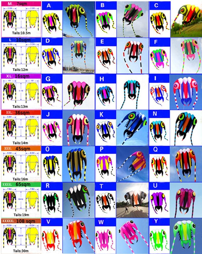 free shipping high quality large trilobites soft kite ripstop nylon fabric kite hcxkite factory tadpole outdoor toys недорого
