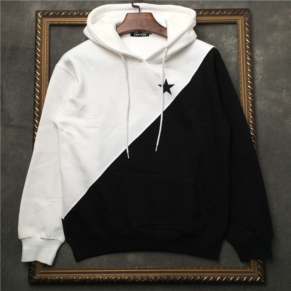 DUYOU لصق-قميص من النوع الثقيل للرجال ، ملابس ذات علامة تجارية ، تصميم عصري ، طباعة نجوم ، بدلة رياضية عالية الجودة DY5652