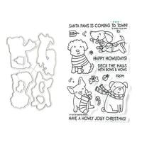 christmas dogs metal cutting die scrapbook embossed paper card album craft template cut die stencils new for 2021