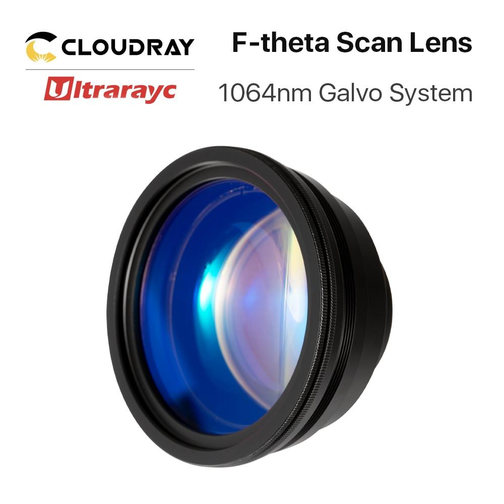 Ultrarayc F-theta عدسة 1064nm عدسات تركيز ليزر البعد البؤري 63-420 مللي متر مجال المسح الضوئي 50 × 50-300 × 300 لنظام الليزر غالفو YAG