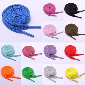 1 Pair Shoelace Flat Popular Sports Shoes Laces Casual Canvas Polyester Shoelaces Candy Color White Black Green Shoelace