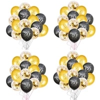 30 40 50 60 years anniversary birthday party balloons 30 50 party number balloon globos adult birthday party decor supplies