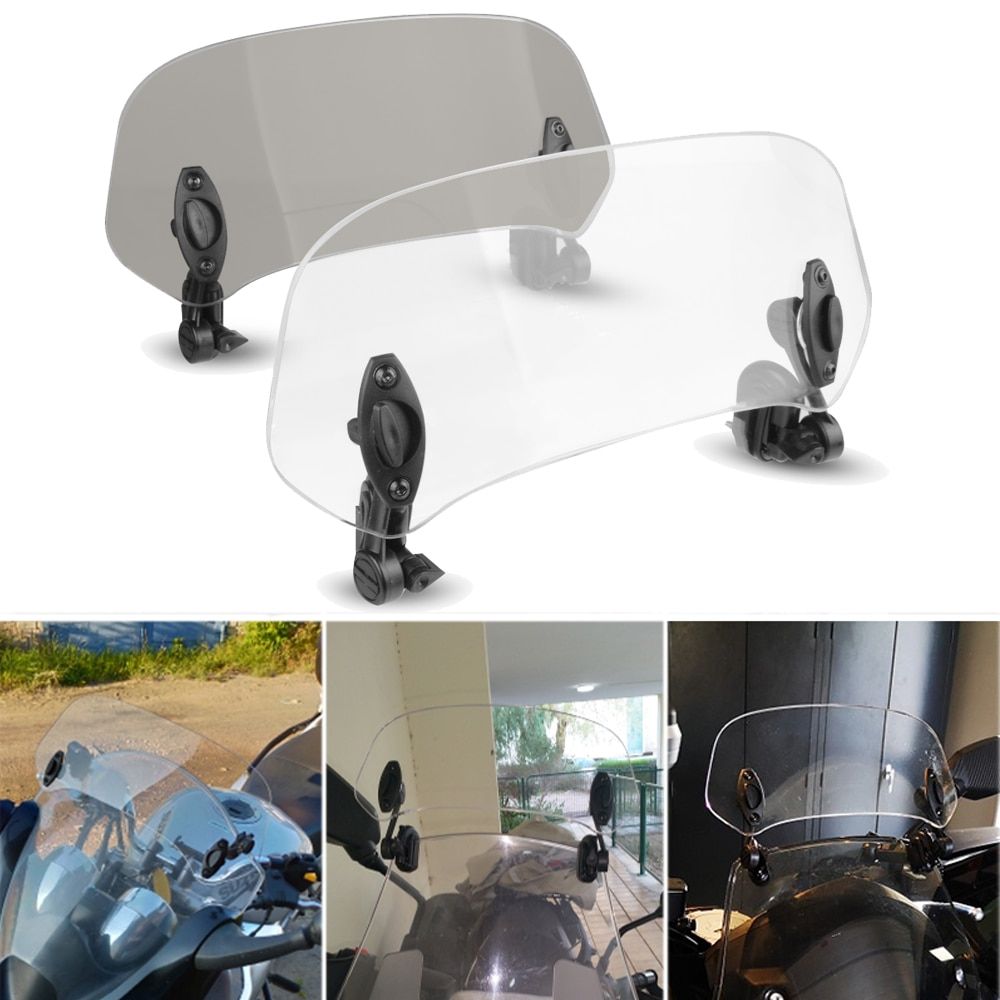 Parabrisas de pantalla ajustable para motocicleta, Deflector de aire para Kawasaki NINJA 250R 650R 300R ZZR600 ZX6R ZX636R ZX9R
