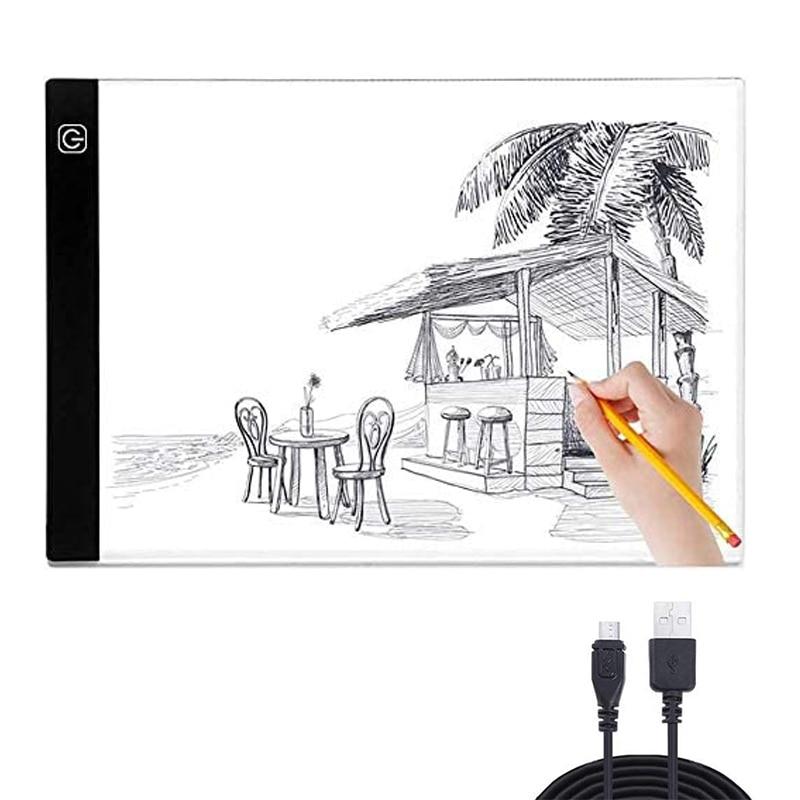 Elice-لوحة رسم رقمية LED A4 ، USB ، لوحة إضاءة ، لوحة رسم ، لوحة فنية إلكترونية ، Wacom