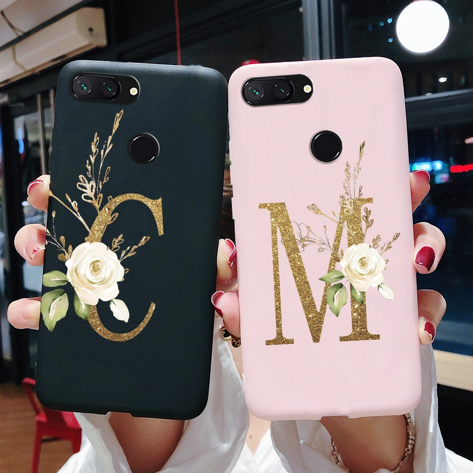For Xiomi Xiaomi mi 8 LITE Case Silicone Cute Letters Soft Phone Case For Xiaomi mi 8 Back Cover For