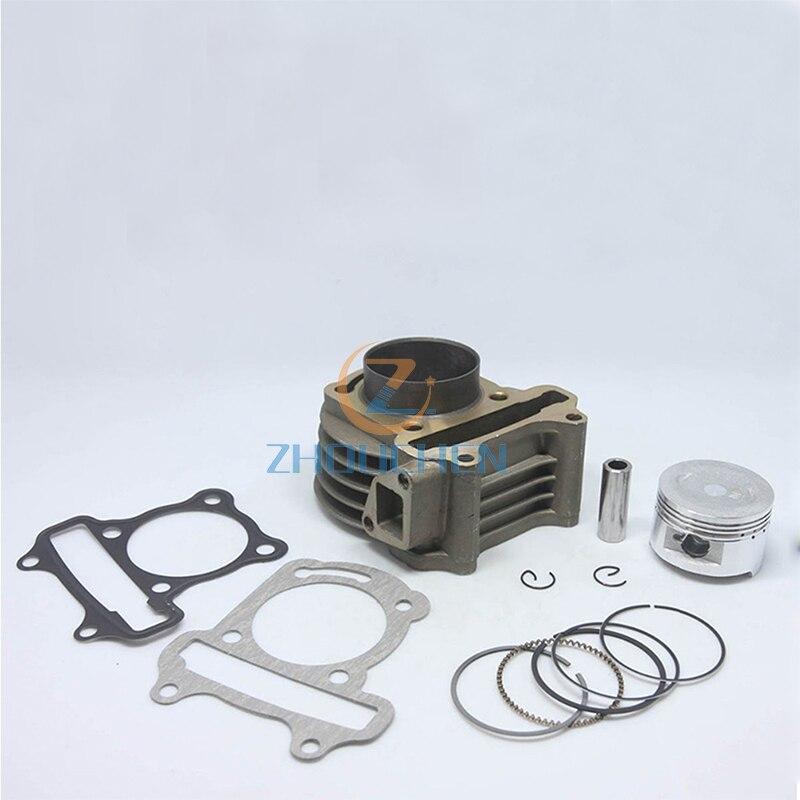 57.4mm cylinder Rebuild kit for gy6 150cc ATV, Go Kart, MOPE cylinder Body Assembly