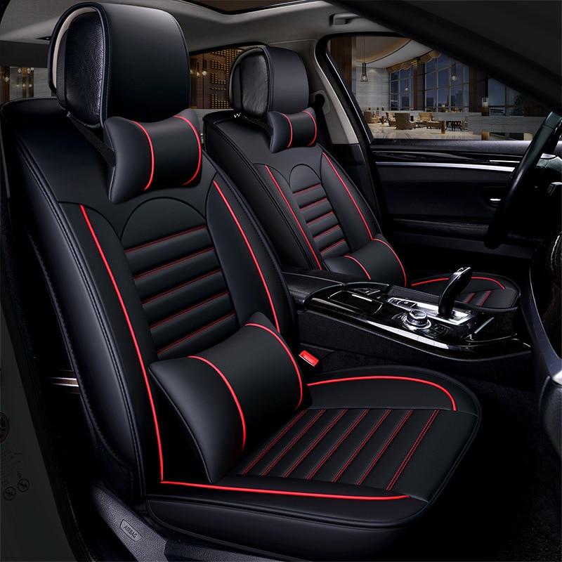 Чехлы для автомобильных сидений Kalaisike, кожаные универсальные чехлы для Hyundai, все модели i30 ix25 ix35 solaris elantra terracan accent azera lantra