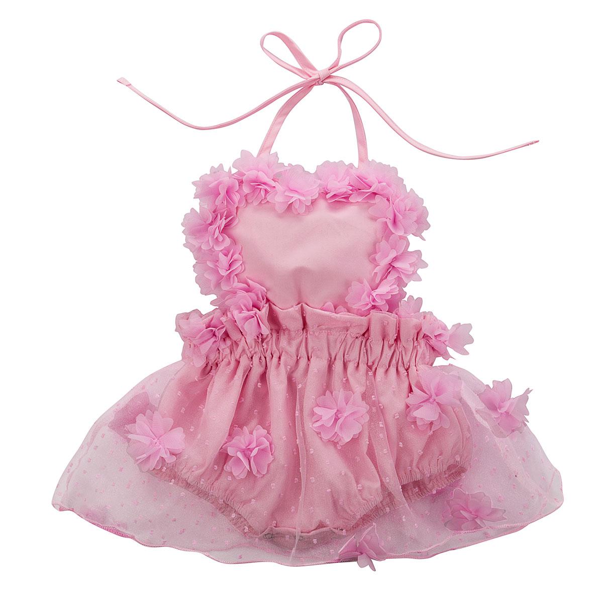 Pelele de verano para bebé niña de 0 a 3 años, pelele Floral de encaje, mameluco espalda al aire sin mangas, con correa en Blanco, Negro, Rosa, ropa para vacaciones