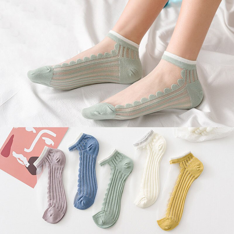 women-summer-thin-crystal-socks-glass-silk-socks-shallow-mouth-boat-socks-transparent-cotton-bottom-socks
