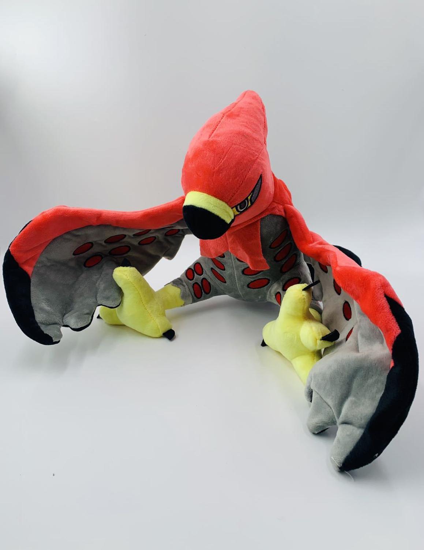 Pokemon Talonflame Figura suave peluche muñeca juguetes 340mm Pokemon Go Talonflame Anime figuras juguetes figurita