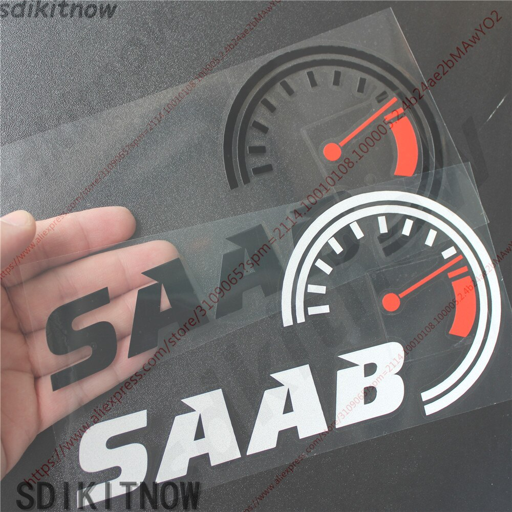 Adesivo borad para bordo do carro, adesivo de velocidade decalque, decoração para para-brisa frontal, saab 9-3 9-5 93 95 acessórios 900 9000