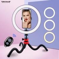 droclie 26cm led ring light bluetooth remote control fill light beauty portrait soft light selfie makeup shooting light