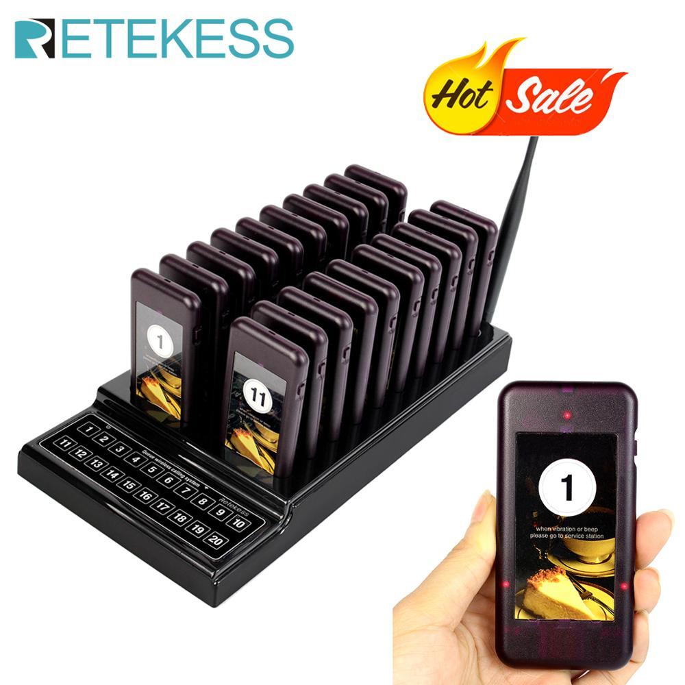Retekess T111 restaurante buscapersonas llamada inalámbrica paginación Sistema de colas camarero sistema de llamada para restaurante buscapersonas sistema de llamada